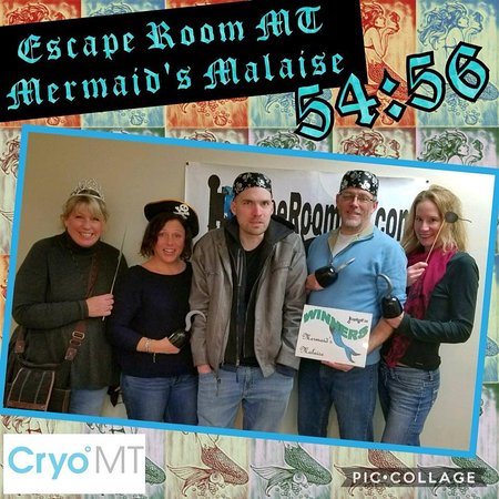 Belgrade, MT: We solved the Room in a little under an hour! Cutting it close!
