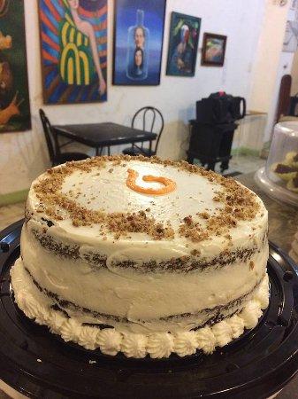 Tixkokob, México: Pastel Itzayana, que es una combinación de pan de zanahoria con cheesecake, cubierto de betún.