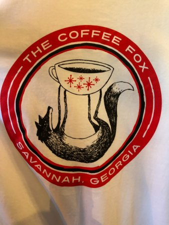 this is their t shirt with logo picture of the coffee fox
