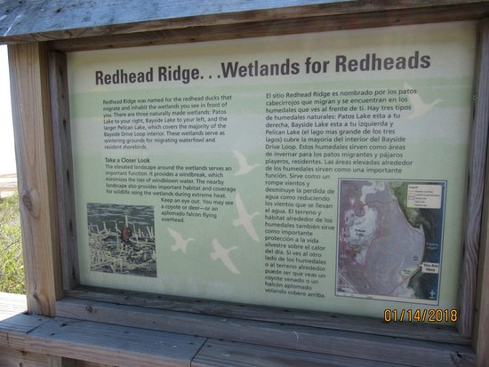 Texas Gulf Coast, TX: Signage at Redhead Ridge