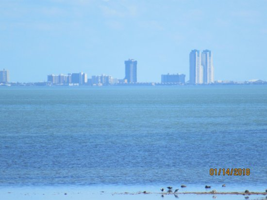 Texas Gulf Coast, TX: South Padre Island across the Laguna Madre bay