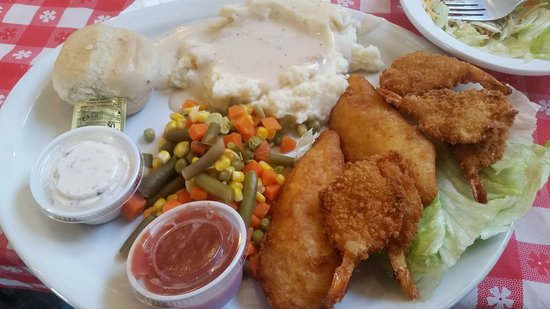 Walsenburg, CO: fried fish and shrimp dish