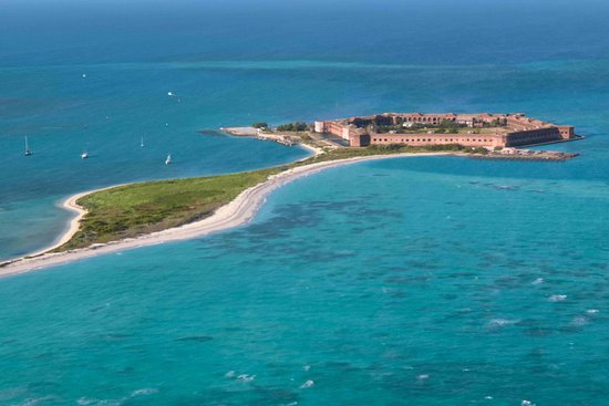 Key West Seaplane Adventures: Fort Jefferson from air