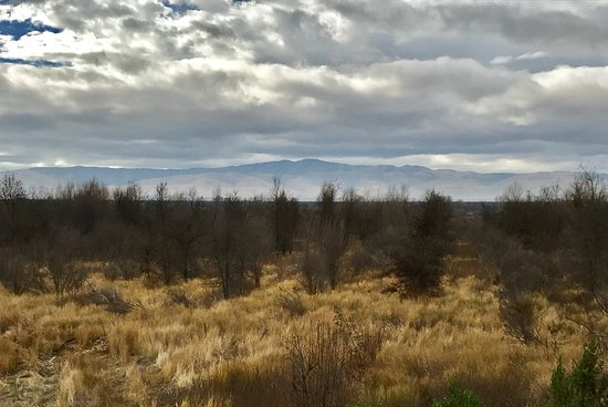 Vernalis, Kalifornia: view of the local mountains at the refuge