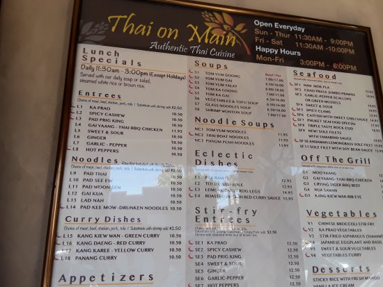 Seal Beach, CA: menu