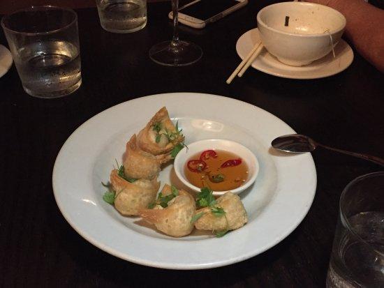 Billy Kwong: crispy prawn wontons