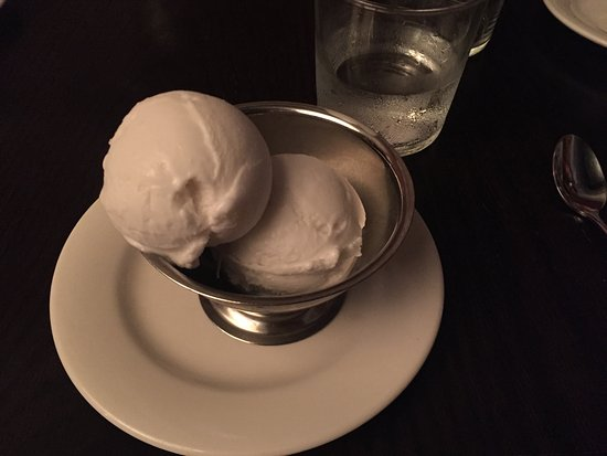 Billy Kwong: coconut ice cream