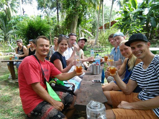 Matara, Sri Lanka: Enjoying some Iced Tea in the Herbal Garden...