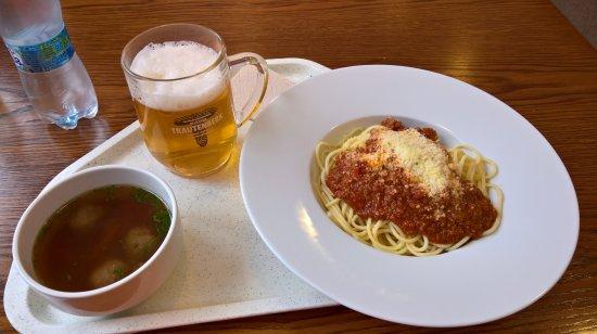 Janske Lazne, República Tcheca: Špagety bolognese, hověží vývar s knedlíčky, pivo Trautemberk
