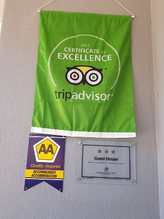 George Lodge International: Flag for Certificate of Excellence received from Tripadvisor