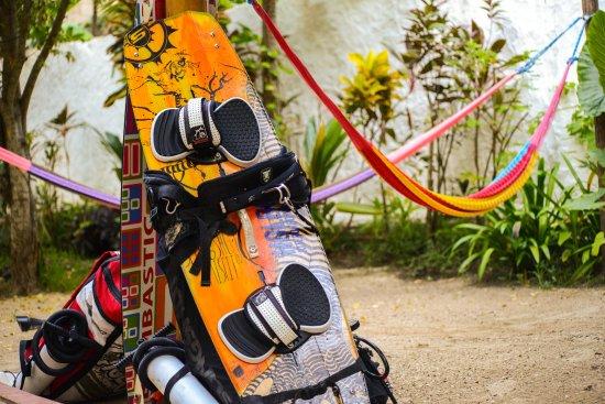 Holbox Island, المكسيك: ready to kite in holbox