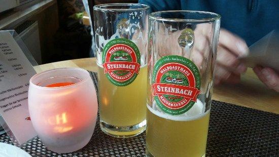 Waldgasthaus Steinbach & Hausbrauerei: Leckeres Bier