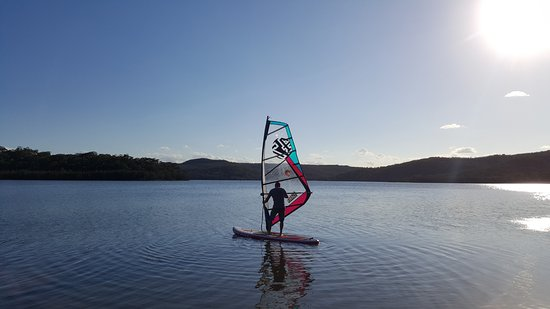 Manly, Australia: Windsurfing on Narrabeen Lake, Sydney