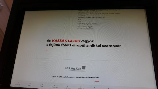 Kassak Museum: His verse on an interactive display