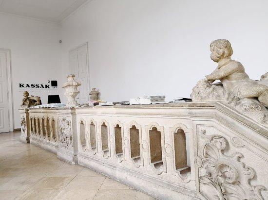 Kassak Museum: Carved corridor.
