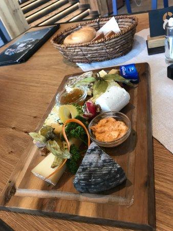 Hochgurgl, Østrig: сырная тарелка