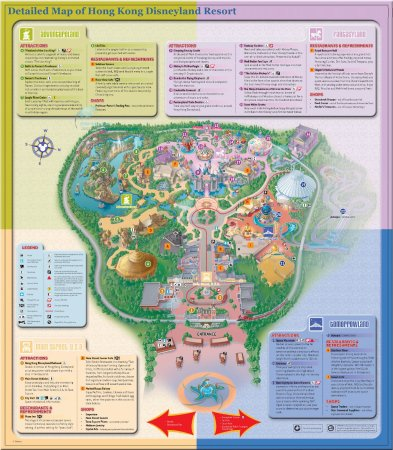 Hong Kong Disneyland Map Disney Map   Picture of Hong Kong Disneyland, Hong Kong   TripAdvisor Hong Kong Disneyland Map