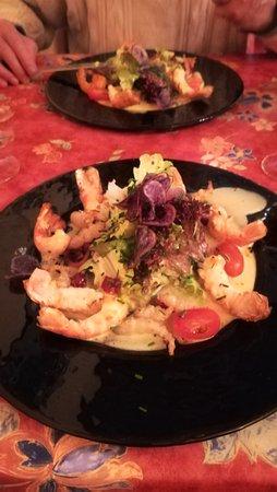 Restaurant Le Cygne: salade de langoustes
