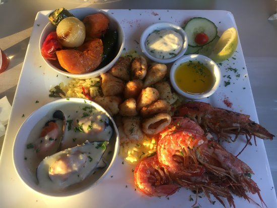 Uvongo, Sudáfrica: Seafood platter