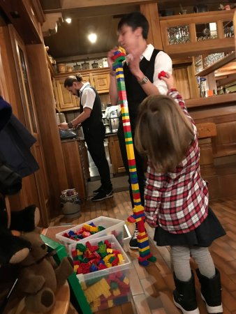 Riederalp, Svizzera: big boxes of legos at the entry to keep kids occupied