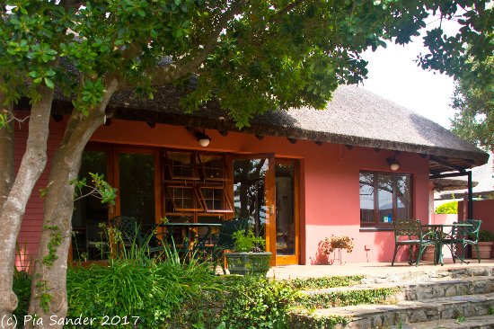 House on Westcliff: Outside the breakfast room of House of Westcliff, Hermanus, S.A.