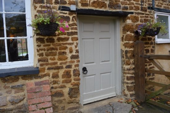 Everdon, UK: back door!