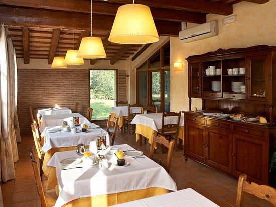 Siurana, España: Comedor para desayunos y cenas.