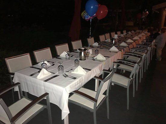 Port Saint Lucie, FL: Set up for birthday dinner