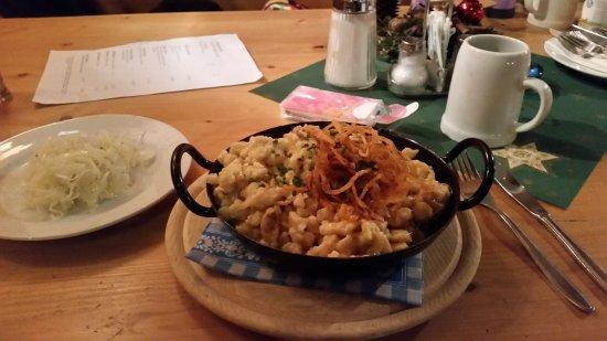 Berggasthof Kohlschnait Kasnockn And Cabbage Salad Ridiculous Serving Size