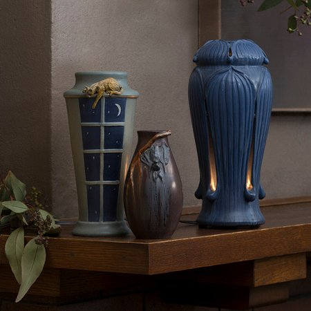 Ephraim Pottery: Reaching for the Stars Vase, Vespertine Vase & Giboshi Lantern