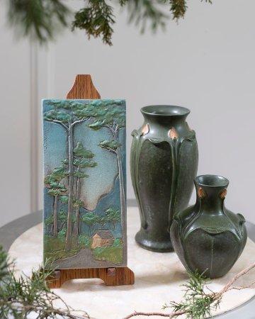 Ephraim Pottery: Hideout Tile, Athena Vase & Small Wonder Vase