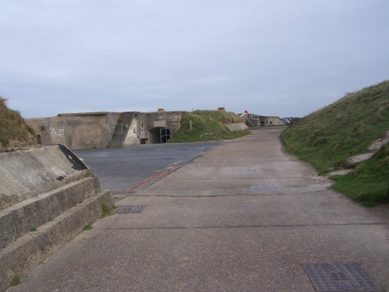 Totland, UK: The middle gun emplacement.