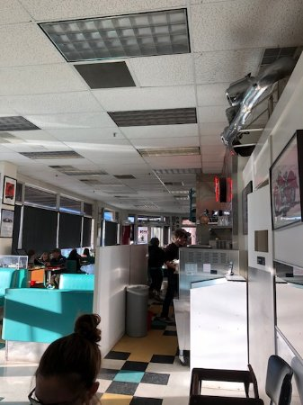 Hailey, ID: Inside from back of restaurant