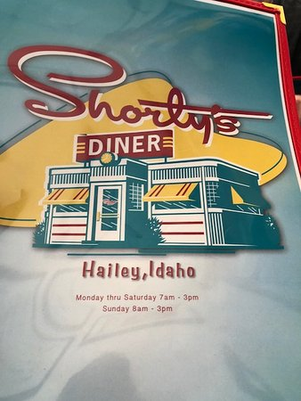 Hailey, ID: Menu cover