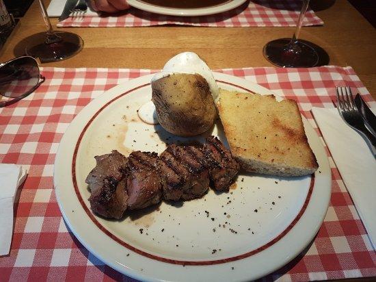 Block-House: Steak Medallones con Patata asada