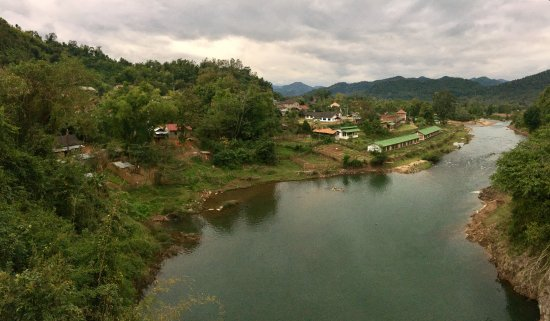 View of Muang La village from the bridge