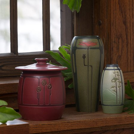 Lake Mills, WI: Revival Rose Jar, Lyrical Poppy Vase and Big Sky Cabinet Vase