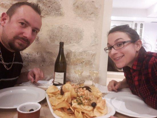 Vert-Saint-Denis, Frankrig: Bacalhau a braga (morue grillé au four)