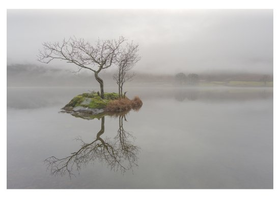 Keswick, UK: Mist over Rydal Water.
