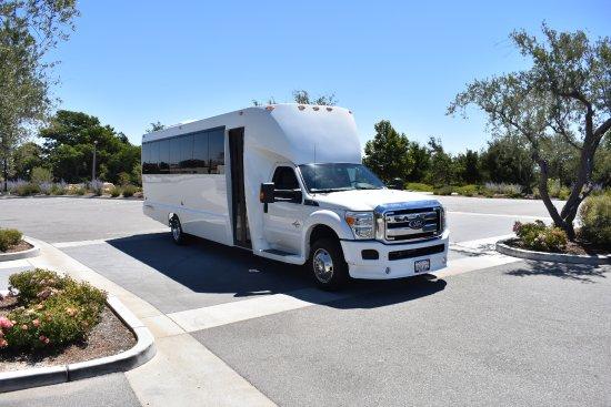 luxury limousine bus 24 passenger slo safe ride tripadvisor. Black Bedroom Furniture Sets. Home Design Ideas