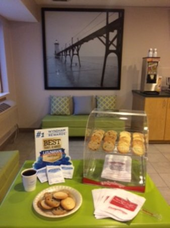 Super 8 Manistee: We have recently added freshly baked cookies for our Travelers.