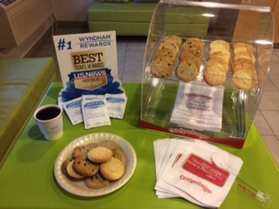 Super 8 Manistee: Come have a snack after Traveling! Available every afternoon.