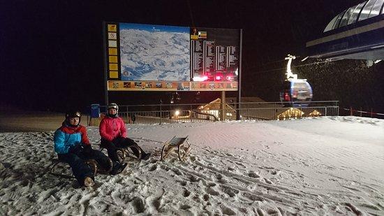 St. Anton am Arlberg, Αυστρία: Начало санной трассы