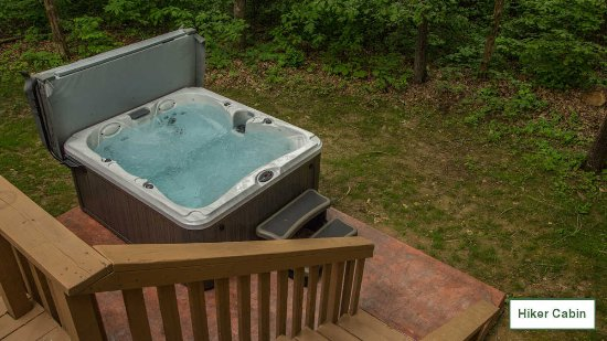 Golconda, IL: Some of our cabins have HOT TUBS installed at Willowbrook Cabins in Southern Illinois