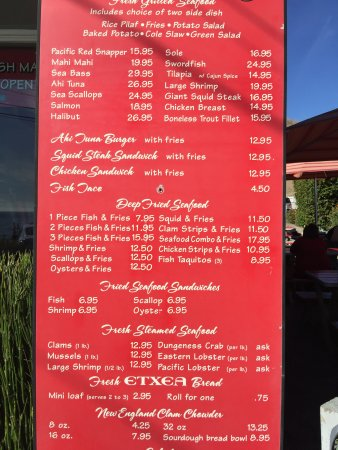 Malibu seafood fresh fish market and patio cafe for City fish market menu