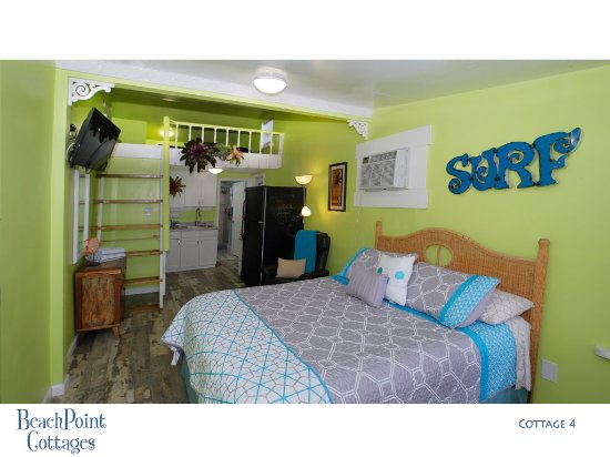 Beachpoint Cottages: Cottage 4 - is our version of a tiny house. This is a cool beach facing efficiency at Beachpoint