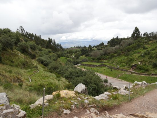 Tambomachay: View down the valley back toward Cusco