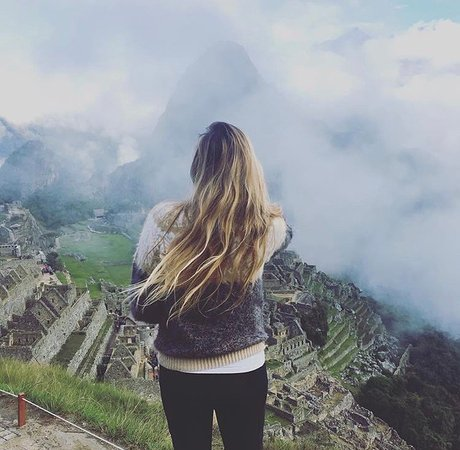 Cusco, Peru: Taking in the views at Machu Picchu.