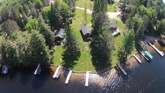 Watersmeet, MI: Ariel view of resort