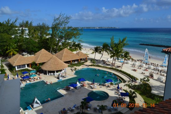 bfe12c5795009 Sandals Royal Barbados  a view of part of the resort taken from the rooftop  pool